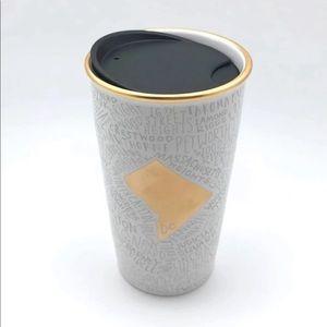 NEW Starbucks Washington DC Ceramic Tumbler Mug